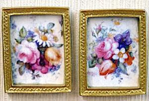 2 tavla tavlor blommor