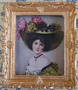 Tavla dam i hatt