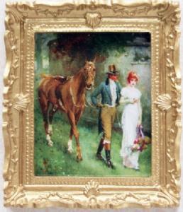 Tavla kärlekspar m häst