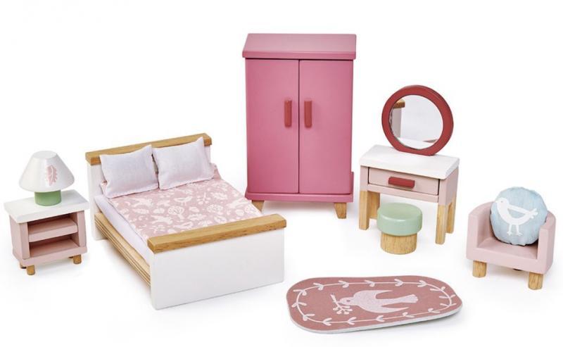 Sovrum garderob till dockhus 13 delar