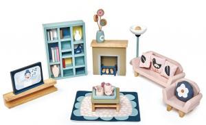 Vardagsrum dockhusmöbler 28 delar