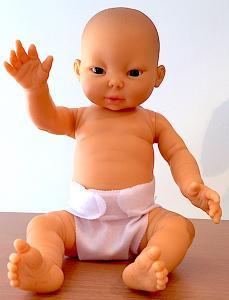 Baby babydocka pojkdocka Tiny 33 cm asiatisk