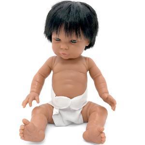 Baby flickdocka Tiny 33 cm sydamerikansk