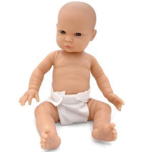 Baby babydocka pojkdocka Tiny 33 cm ljus