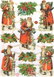 Bokmärken tomtar julgranar retro