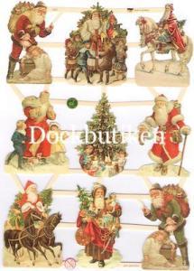 Bokmärken tomtar barn julgran retro