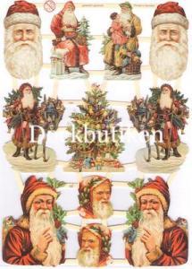 Bokmärken tomtar julgran retro