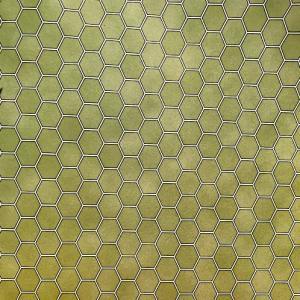 Golv klinker 6-kantigt hexagon grön
