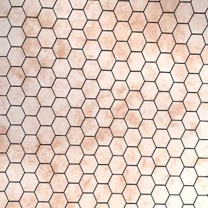Golv klinker 6-kantigt hexagon peach