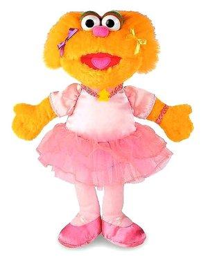 Docka busiga Ballerina Zoe från Sesame Street