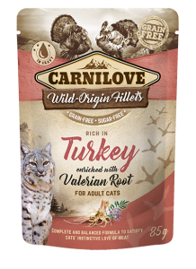 Carnilove Cat Pouch Turkey enriched with Valerian 85 g