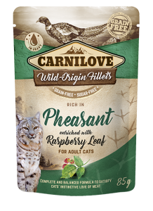 Carnilove Cat Pouch Pheasant enriched with Raspberry Leaves 85 g