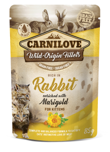 Carnilove Cat Pouch Rabbit enriched with Marigold for kittens 85 g