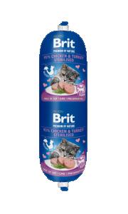 Brit katt köttkorv Chicken & Turkey Sterilised 180 g