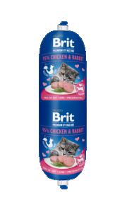 Brit katt köttkorv Chicken & Rabbit 180 g
