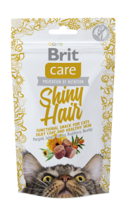 Brit Care Cat Snack Shiny Hair lax 50 g