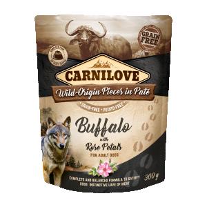 Carnilove Dog Pouch Paté Buffalo with Rose Petals 300 g