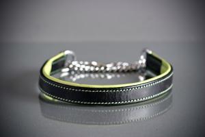 Eckers läderhalvstryp svart/grön