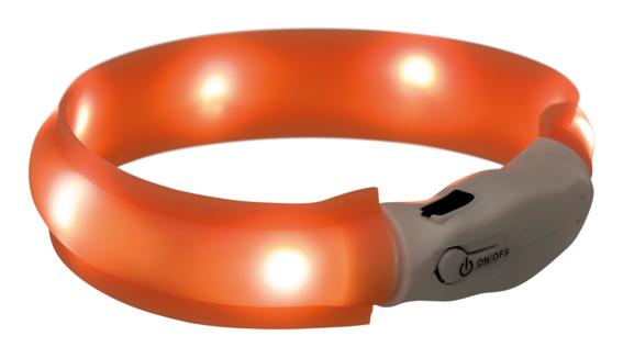 Flash light band USB, 25 mm, orange