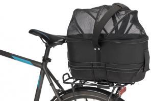 Cykelkorg, 48x29x42 cm, 85-120 cm pakethållare svart