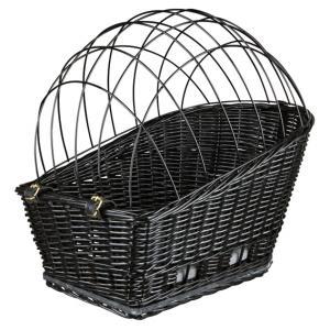 Cykelkorg pil/galler svart 55x35x49 cm