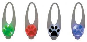 Flasher för hund, 2.4 / 8 cm, vit med motiv