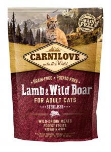 Carnilove Cat Lamb & Wild Boar - for Sterilised
