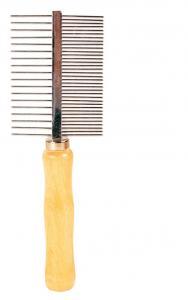 Kam träskaft dubbel medium/grov 17 cm