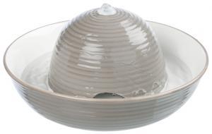 Vattenfontän Vital Flow, keramik 1,5 l grå/vit
