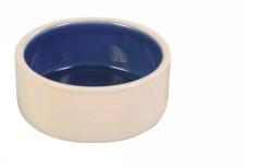 Keramikskål vit/blå