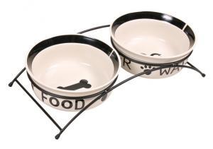 Matbar med keramikskålar 2x1,6 l