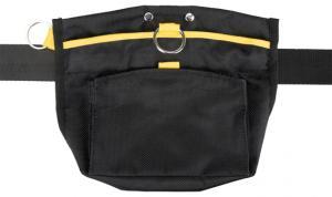 Sporting godisväska 23 x19 cm, svart/gul