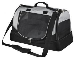 Transportväska Holly med bädd 30 x 30 x 50 cm, svart/grå