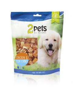 2pets Dogsnack Chicken/Fish Cubes