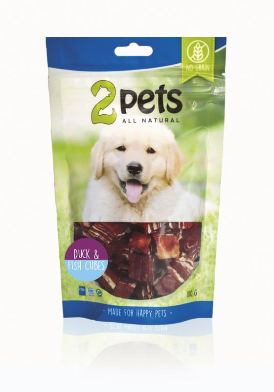 2pets Dogsnack Duck/Fish Cubes