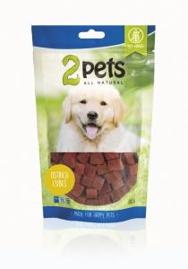 2pets Dogsnack Ostrich Cubes 100 g