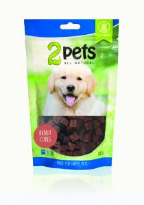2pets Dogsnack Rabbit Cubes 100 g