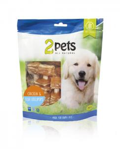 2pets Dogsnack Chicken/Fish Lollipops 250 g