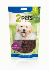 2pets Dogsnack Duck MiniCubes 100 g
