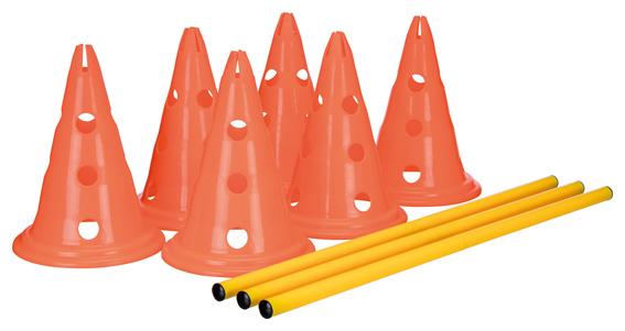 Dog Activity Hinderset 3 hinder, ø23x30cm, 78cm, orange & gul
