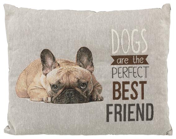 Chipo dyna fransk bulldog 60 x 48 cm, grå