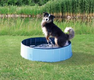 Hundpool, ø 80 x 20 cm, ljusblå/blå