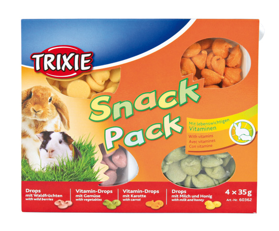 Snack Pack drops gnagare 4x35 g