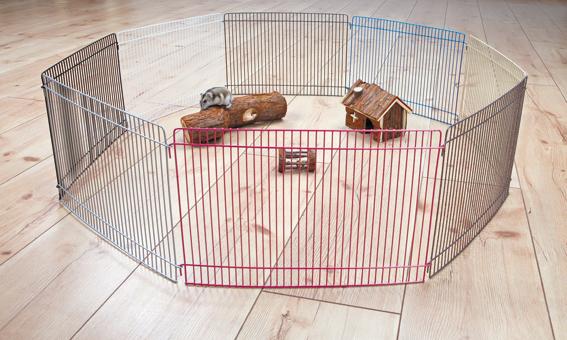Hage hamster Colours 8 sektioner 33x23 cm, Trixie