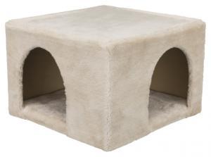 Igloo for kanin/marsvin, plysch,36 x 25 x 36 cm, beige