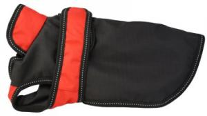 Täcke svart/röd