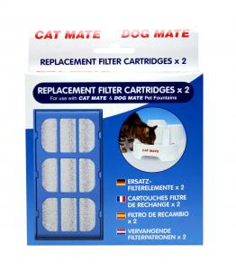 Filter till vattenfontän Cat Mate 2-pack