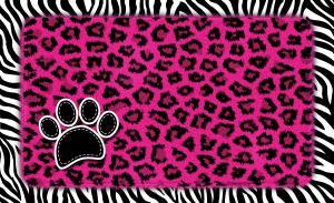 Underlägg leopard/zebra rosa 51x30 cm, Drymate