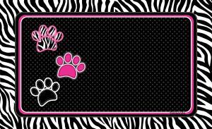 Underlägg zebra svart 51x30 cm, Drymate