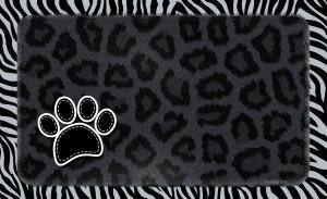Underlägg leopard svart 51x30 cm, Drymate